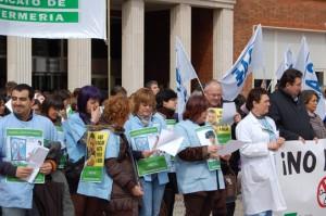 Concentracion en el Hospital de Cruces de Bizkaia (20 de marzo de 2012)