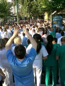 Concentraciones en el Hospital Virgen del Rocio, Sevilla (23 de mayo de 2012)