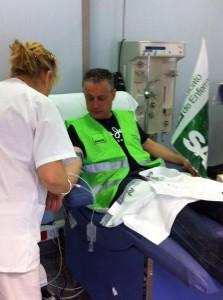 Donacion de sangre contra los recortes en Valencia (3 de abril de 2012)