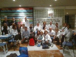 Encierro en el Hospital General de Alicante (23 de febrero de 2012)
