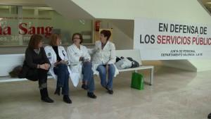 Encierro en el Hospital La Fe de Valencia (22 de febrero de 2012)