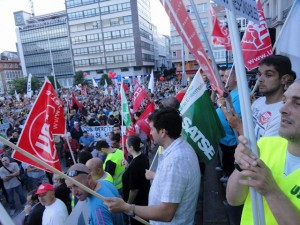 Manifestaciones en Ferrol (19 de julio de 2012)