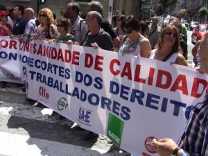 Manifestaciones en Ourense (19 de julio de 2012)