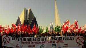Marcha contra el despilfarro en Valencia (11 de febrero de 2012)