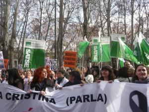 Marcha desde el estadio del Rayo Vallecano hasta la Asamblea de Madrid (19 de diciembre de 2012)