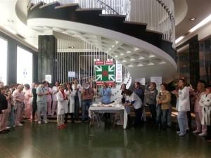 Txorizada contra los recortes en el Hospital de Cruces, Bizkaia (27 de marzo de 2013)