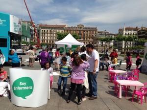 Cientos de ciudadanos nos han visitado ya en #xtusalud #Pamplona