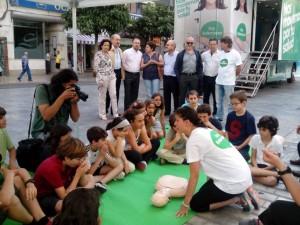 Empezamos los primeros talleres en #xtusalud Murcia, en la Avenida de la Libertad