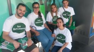 Enfermeros que han participado en xtusalud a pie de calle en Tenerife
