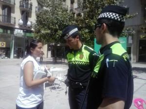 Guardia Urbana en la Feria de los Cuidados de Tarragona