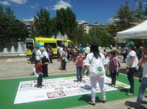 La oca de los cuidados en #xtusalud en Burgos
