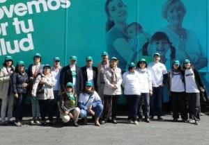 Todos trabajando #xtusalud en Teruel