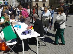 Toma de tension y glucemia #xtusalud #Pontevedra