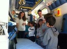 Visitando una ambulancia en #xtusalud en Albacete